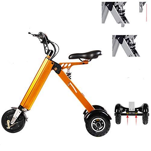 Haojie Triciclo eléctrico Plegable Pequeño Macho y Femenino Scooter Portátil Ocio Mini Batería Nueva,C