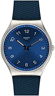 Swatch SS07S102 Rubber Blue-Dial Round analog Unisex Watch