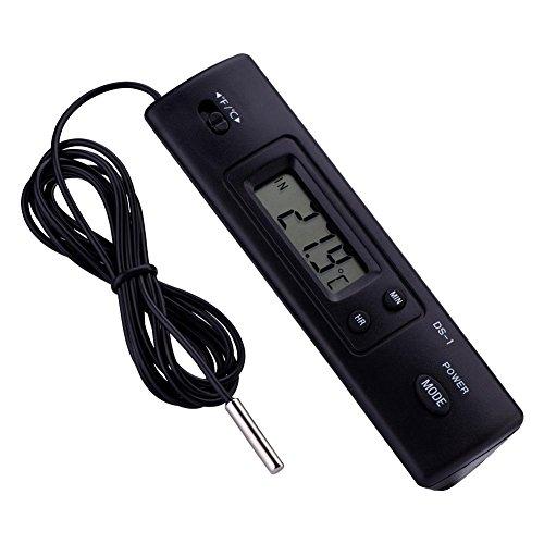 Elektronisches LCD-Digitales Temperaturmessgerät, Thermometer, Sonde mit großem LCD-Display, kabelgebunden, für Kühlschrank