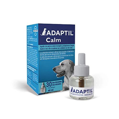 ADAPTIL Calm - Antiestrés para perros - Solo en casa, Miedos, Ruidos fuertes, Adopción - Recambio 48ml