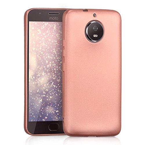 kwmobile Hülle kompatibel mit Motorola Moto G5S - Handy Hülle Metallic Rosegold