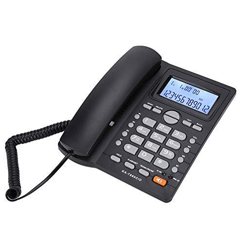 Germerse Juego de extensión de Registro de Tiempo de Llamada Teléfono Fijo Teléfono con Cable con identificador de Llamadas Sonido Claro para calculadora Teléfono residencial(Black)