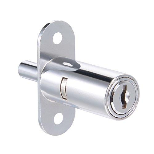 Sourcing Map Schublade Schreibtisch Kleiderschrank Schrank Schrank Push Plunger Lock 1,9 cm Zylinder Durchmesser 3,8 cm Zylinderlänge Zinklegierung Chrom-Finish Schlüssel verschiedene