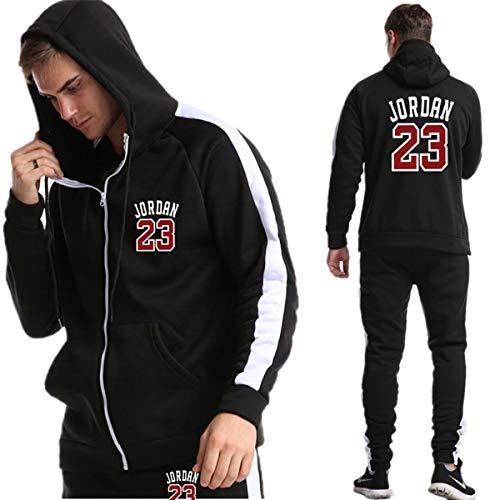 Mens Jordan trainingspak Set Trainingspak Zipper Hoodie & Bottom Jogging Suit Jacket Sports Gym Broeken Broeken Casual Outfits,B,M
