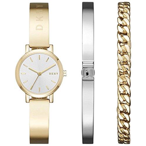DKNY Damen Analog Quarz Uhr mit Edelstahl Armband NY2619
