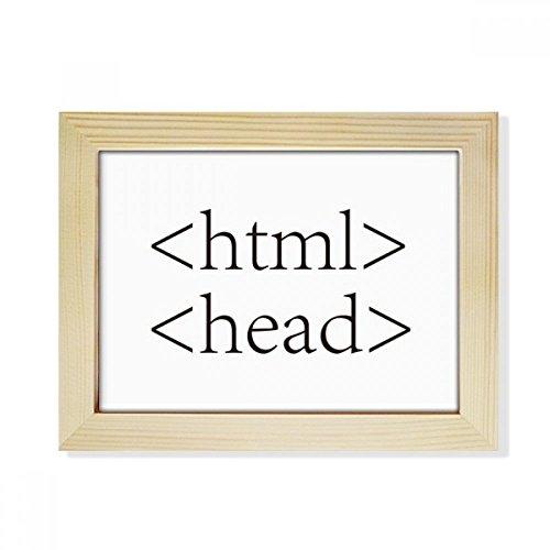 DIYthinker Programmer Programm Statement HTML Desktop-HÖlz-Bilderrahmen Fotokunst-Malerei Passend 15.2 x 20.2cm (6 x 8 Zoll) Bild Mehrfarbig