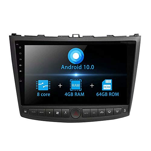 TOPNAVI 10.1Inch Head Unit 64GB Android 10.0 Car Radio Stereo for Lexus IS350 IS250 2005 2006 2007...