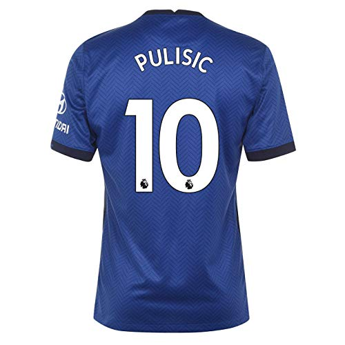 PULISIC #10 Chelsea Home Men's Stadium Soccer Jersey- 2020/21 (Medium) Blue