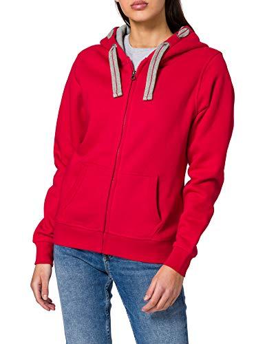 HRM Damen Jacket F Kapuzenpullover, Rot (Red 3), X-Large