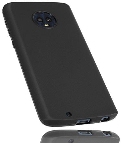 mumbi Hülle kompatibel mit Motorola Moto G6 Handy Hülle Handyhülle, schwarz
