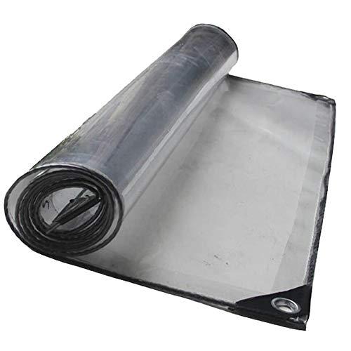 Bâche Lourde Plaque Transparente Imperméable Parasol Pliable Plastique Boutonnière en Plastique 420g / M2, Épaisseur: 0.5mm (Taille : 4x4m)