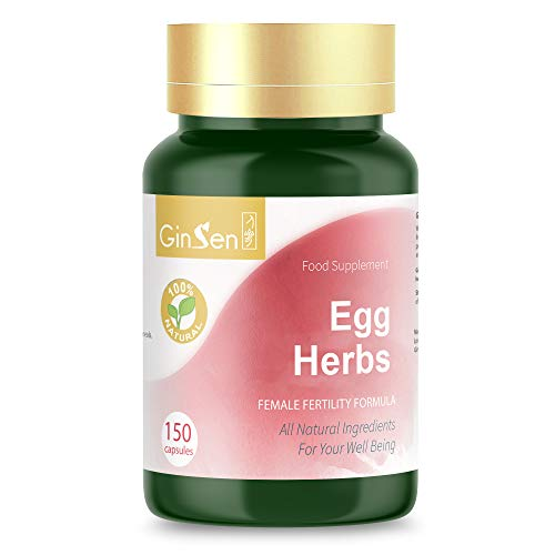 GinSen Egg Herbs 150 Capsules, Boost Ovulation Naturally Premium Grade Herbal Medicine