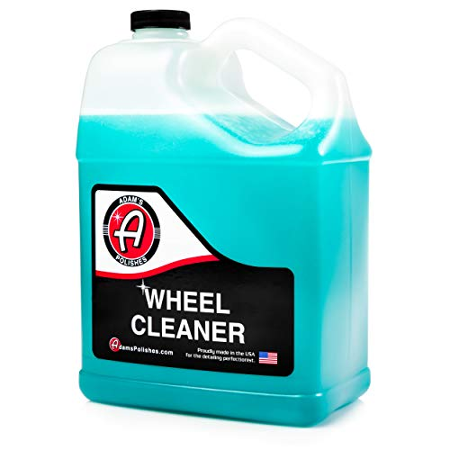 Adam's Wheel Cleaner (Gallon) - Wheel & Auto Detailing Cleaning Formula | Color Activates W/Brake Dust On Rims, Clear Coated, Polished, Painted & Plasti Dipped Wheels | Wash Kit Brush & Accessories