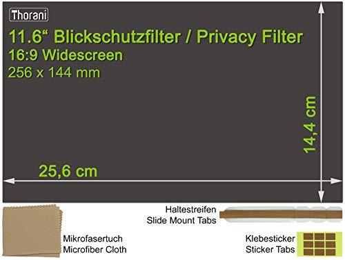 Thorani Laptop Notebook Privacy Filter Blickschutz Folie Sichtschutzfolie - 11.6 Zoll 16:9 Bildschirm