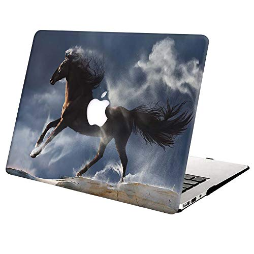 MacBook Pro 13 Inch Case A1502 A1425 Release 2015 2014 2013 2012,AJYX Plastic Hard Shell Snap On Case for Old Version Laptop Mac Pro Retina 13 - Horse 2