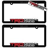 TRD OFF ROAD (2) License Plate Frames Toyota Racing Development 3D Letter Frame Brackets (...