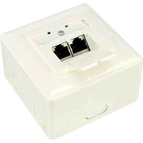 InLine 75602J White Outlet Box – Outlet boxes
