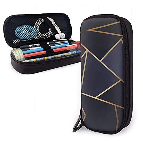 Triángulos geométricos elegantes lápices para niños y niñas, bolso de la pluma titular de la escuela papelería organizador maquillaje cosmético bolsa