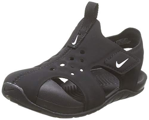 Nike Toddler Kid's Sunray Protect 2 Sandal, Black/White, 3 M US Infant