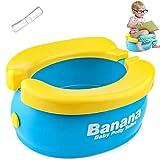 Travel Potty, Tinabless Portable Folding Reusable Banana Travel Toilet Potty Training Seat