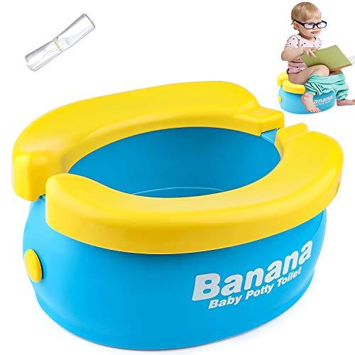 Travel Potty, Tinabless Portable Folding Reusable Banana Travel Toilet Potty Training Seat for...