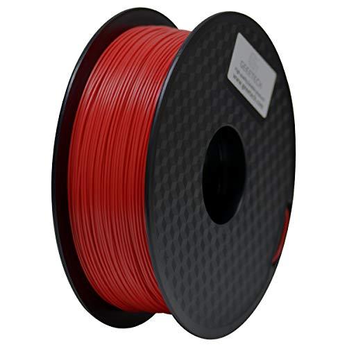 GEEETECH PLA Filament 1,75 mm, 1kg Spool, 3D Drucker PLA + Filament, Rot