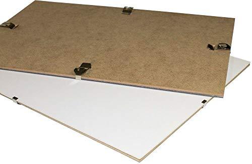 Clippo Rahmenloser Bilderrahmen Posterrahmen 50x70 cm Cliprahmen Bildhalter 70x50 cm mit Rückwand und klarem Kunstglas 1 mm