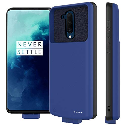 zukabmw Akku Hülle für OnePlus 7T Pro, 7000mAh Magnetische Adsorption Akku Case Zusatzakku Schutzhülle Wiederaufladen Leistungsstarke Ladebatterie Powerbank für OnePlus 7T Pro, Blau