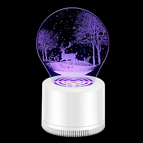 Mosquito Repellent Lamp 3D Mosquito Killer Cartoon Lamp Home Indoor Silent Mosquito Trap Creative Gift Business Gift Children Sleep Aid Lamp-Forest Fawn_USB