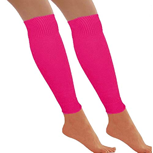 Redstar Fancy Dress - Beinstulpen - 80er Jahre Tanzparty - Retro Kostüm-Accessoire - Neonfarben - Pink