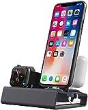 DZJ Support de Charge en Aluminium pour iPhone et Station de Charge de Montre pour Produits Apple...