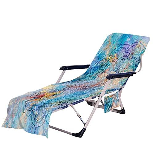 Doans Strandkorb Handtuch Lounge Chair Cover Mikrofaser Strandkorbbezug Mit Taschen Garten Handtuch Stuhl Strandtuch für meisten Freizeitstühle und Liegestühle Schwimmbäder Strände Garten Biological