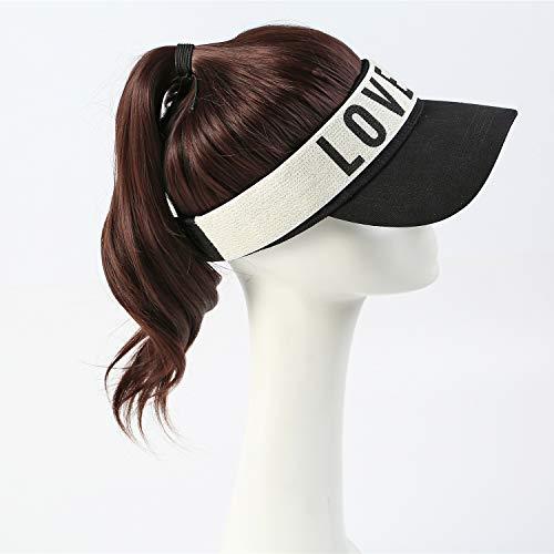 Perruque Postiches Wigs,Casquette De Baseball Détachable Ponytail Simulation Hood