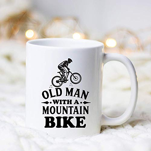 OldManMountainBikeMugBikeMugBikerGiftCyclistMugCyclistGiftBikingMugBikerCoffeeMugGiftforBiker