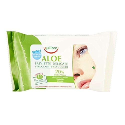 Equilibra Aloe Salviette Struccanti, 25 pz
