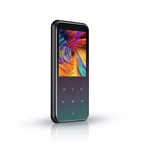 ZHUYUE Bluetooth 16GB Reproductor MP3 con 2,4 Pulgadas de Pantalla y Altavoz Incorporado, sin pérdida portátil Reproductor de Audio Digital Compatible con Radio FM Grabaciones Reloj despertad