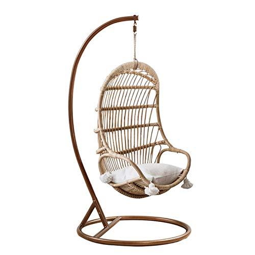 Camping Hängematte, Schaukelstuhl Lazy Hotel Hängekorb Wicker Chair Single Home Balkon Hängesessel (Farbe: Mehrfarbig, Größe: 73x74x124cm)