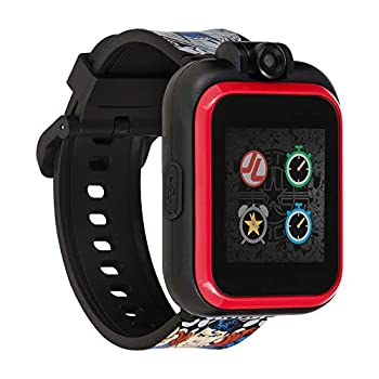 Justice League Official Smartwatch for Kids by PlayZoom - Swivel Camera with Video Record Educational Games and Activities Alarm Calendar Stopwatch and Camera Remote