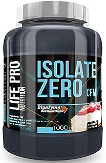 Life Pro Isolate Zero 1Kg | Suplemento Deportivo de Proteína de Suero Aislada, Suplemento Proteísnas para Mejora y Crecimiento del Sistema Muscular, Aumenta Resistencia, Sabor Strawberry Cheesecake