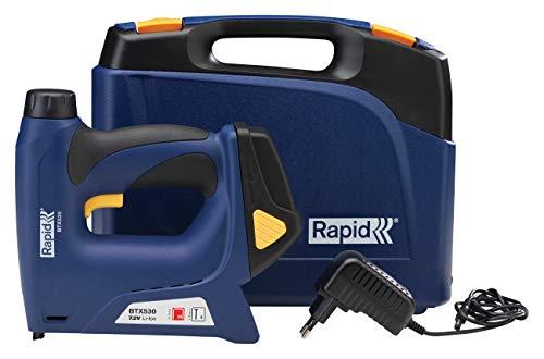Rapid Akku Tacker BTX530, Hohe Leistung mit 7,2V Li-Ion Akku, für Klammern Typ 53, 6-14mm und Nägel Typ 8 (18Ga) 15mm