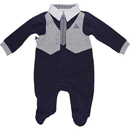 Minibanda Baby Jungen festlicher Strampler mit Weste U693 (74)