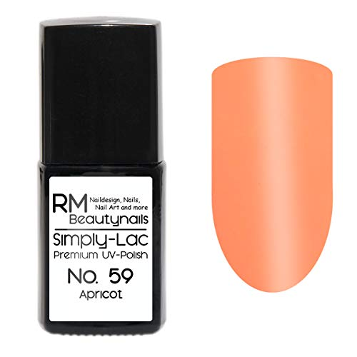 Simply-Lac Premium UV-Polish Nr. 59 Apricot Orange 10ml Nagelgel UV-Nagellack