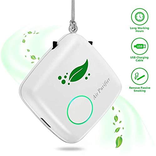 HUA JIE Luftreiniger,Negativ Ionisator,Mini persönliche tragbare Halskette,wiederaufladbarer USB, für Car Home Erwachsene Kinder