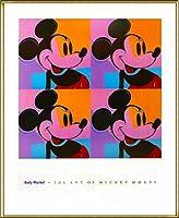 ポスター アンディ ウォーホル ミッキーマウス 1982 額装品 アルミ製ハイグレードフレーム(ゴールド)