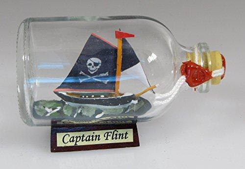 Piratenschiff Captain Flint Mini Buddelschiff 50 ml ca. 7,2 x 4,5 cm Flaschenschiff