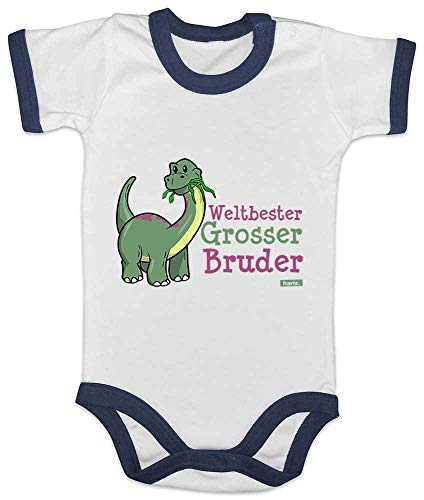 Hariz Baby Body Ringer Weltbeste Grosser Hermano divertido Dino cumpleaños Hermano Baby Plus...