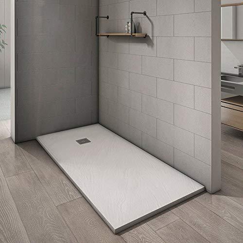 DOCCIAVIVA Duschtasse zuschneidbar, aus Kunstharz, weiß, 80 x 120 x 3 cm