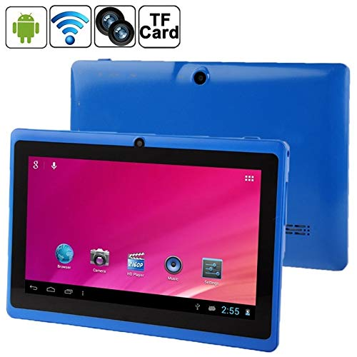 GUPENG 10.1 Inch Android Tablet PC, Q88 Tablet PC, 7.0 inch, 1GB+8GB, Android 4.0, 360 Degree Menu Rotate, Allwinner A33 Quad Core up to 1.5GHz, WiFi, Bluetooth (Color : Blue)