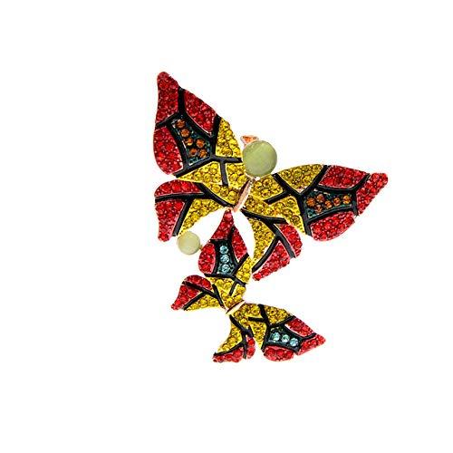 RWJFH Broche Broches de Diamantes de imitación Disponibles para Mujer, Hermoso Regalo de Broche de Moda de Invierno, Amarillo