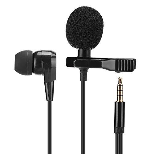 Professionele lavalier-microfoon, reverskoptelefoon met clip, mini-lavalier-microfoon voor zang, muziek, live uitzending, opname en interview